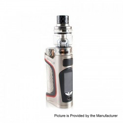 Authentic Eleaf iStick Pico S 100W TC VW Variable Wattage Box Mod + ELLO VATE Tank Kit - Silver, 1 x 18650 / 21700, 6.5ml