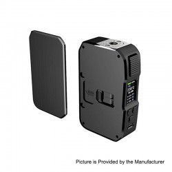 Authentic HCigar Aurora 80W TC VW Variable Wattage Squonk Box Mod - Black, Aluminum, 5~80W, 1 x 18650 / 20700 / 21700, 7ml