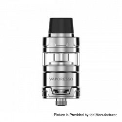 Authentic Vaporesso Cascade Mini Sub Ohm Tank Clearomizer - Silver, Stainless Steel, 3.5ml, 22mm Diameter