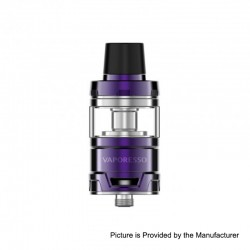 Authentic Vaporesso Cascade Baby Sub Ohm Tank Clearomizer - Purple, Stainless Steel, 5ml, 24.5mm Diameter