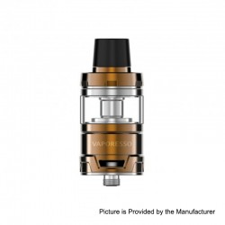 Authentic Vaporesso Cascade Baby Sub Ohm Tank Clearomizer - Gold, Stainless Steel, 5ml, 24.5mm Diameter