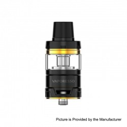 Authentic Vaporesso Cascade Baby Sub Ohm Tank Clearomizer - Black, Stainless Steel, 5ml, 24.5mm Diameter
