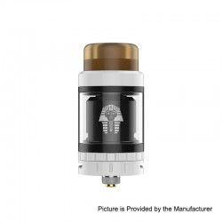 Authentic Digiflavor Pharaoh Mini RTA Rebuildable Tank Atomizer - White, Stainless Steel, 5ml, 24mm Diameter