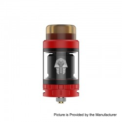 Authentic Digiflavor Pharaoh Mini RTA Rebuildable Tank Atomizer - Red, Stainless Steel, 5ml, 24mm Diameter