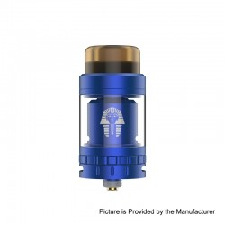 Authentic Digiflavor Pharaoh Mini RTA Rebuildable Tank Atomizer - Blue, Stainless Steel, 5ml, 24mm Diameter