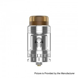 Authentic Digiflavor Pharaoh Mini RTA Rebuildable Tank Atomizer - Polished Silver, Stainless Steel, 5ml, 24mm Diameter