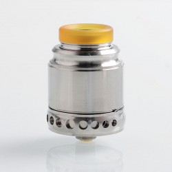 Authentic Hellvape Anglo RDA Rebuildable Dripping Atomizer - Silver, 316 Stainless Steel, 24mm Diameter