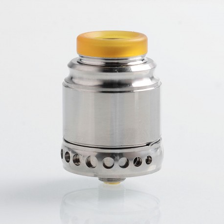 Authentic Hellvape Anglo RDA Rebuildable Dripping Atomizer w/ BF Pin - Silver, 316 Stainless Steel, 24mm Diameter