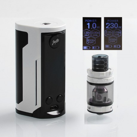 Authentic Wismec Reuleaux RX GEN3 Dual 230W TC VW Box Mod + GNOME King Tank Kit - Gradient White, 1~230W, 2 x 18650, 5.8ml