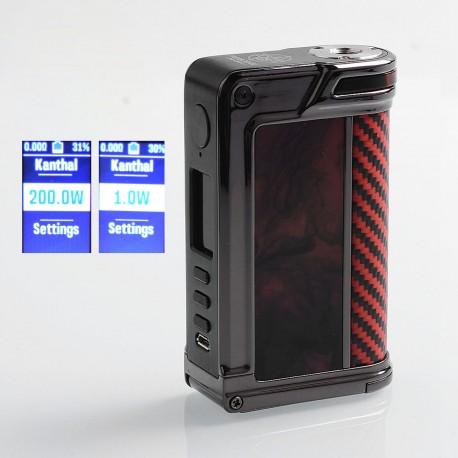 Authentic Lost Vape Paranormal DNA250C 200W TC VW Mod - Gun Metal + Scarlet Passion + Red Black Kevlar, 1~200W, 2 x 18650