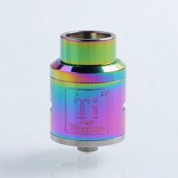Goon Ti Style RDA Rebuildable Dripping Atomizer w/ BF Pin - Rainbow, 316 Stainless Steel, 24mm Diameter