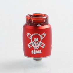 Authentic Blitz Ghoul RDA Rebuildable Dripping Atomizer w/ BF Pin - Red, Aluminum + Stainless Steel, 22mm Diameter