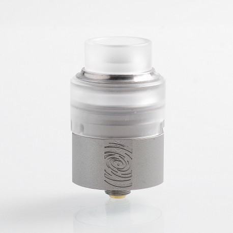 Authentic Vapefly Wormhole RDA Rebuildable Dripping Atomizer w/ BF Pin - Silver, Stainless Steel + PMMA, 24mm Diameter