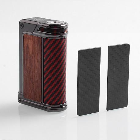 Authentic Lost Vape Paranormal DNA250C 200W TC VW Mod - Gun Metal + Wood + Carbon Fiber + Red Black Kevlar, 1~200W, 2 x 18650