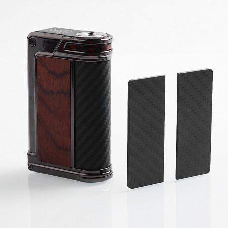 Authentic Lost Vape Paranormal DNA250C 200W TC VW Mod - Gun Metal + Wood + Carbon Fiber + Black Grey Kevlar, 1~200W, 2 x 18650