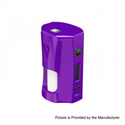 Authentic Desire RAGE 155W TC VW Variable Wattage Squonk Box Mod - Purple, 5~155W, 2 x 18650, 7ml