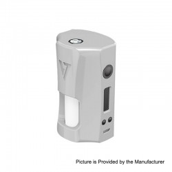 Authentic Desire RAGE 155W TC VW Variable Wattage Squonk Box Mod - White, 5~155W, 2 x 18650, 7ml