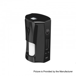 Authentic Desire RAGE 155W TC VW Variable Wattage Squonk Box Mod - Black, 5~155W, 2 x 18650, 7ml