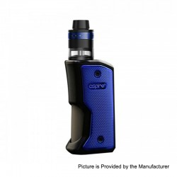 Authentic Aspire Feedlink Squonk Box Mod + Revvo Boost Tank Kit - Black + Blue, 1 x 18650, 7ml + 2ml