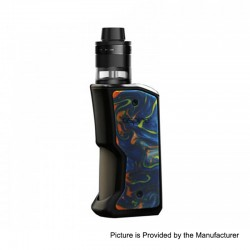 Authentic Aspire Feedlink Squonk Box Mod + Revvo Boost Tank Kit - Black + Nightsky, 1 x 18650, 7ml + 2ml
