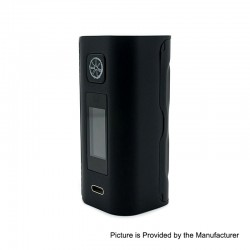 Authentic Asmodus Lustro 200W Touch Screen TC VW Variable Wattage Box Mod - Black, 5~200W, 2 x 18650