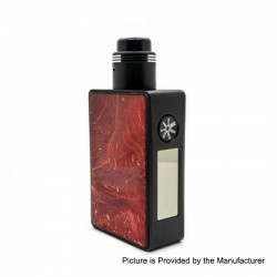 Authentic Asmodus Spruzza 80W TC VW Variable Wattage Squonk Box Mod + Fonte RDA Kit - Red, 5~80W, 1 x 18650, 6ml