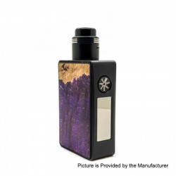 Authentic Asmodus Spruzza 80W TC VW Variable Wattage Squonk Box Mod + Fonte RDA Kit - Purple, 5~80W, 1 x 18650, 6ml