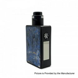 Authentic Asmodus Spruzza 80W TC VW Variable Wattage Squonk Box Mod + Fonte RDA Kit - Blue, 5~80W, 1 x 18650, 6ml
