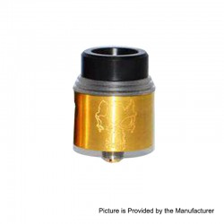 Redemption Style RDA Rebuildable Dripping Atomizer w/ BF Pin - Brass, Brass, 24mm Diameter