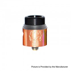 Redemption Style RDA Rebuildable Dripping Atomizer w/ BF Pin - Copper, Copper, 24mm Diameter