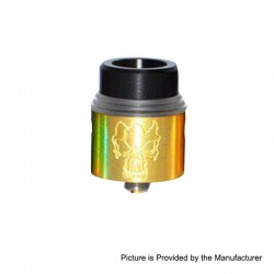 Redemption Style RDA Rebuildable Dripping Atomizer w/ BF Pin - Gold, Stainless Steel, 24mm Diameter