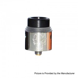 Redemption Style RDA Rebuildable Dripping Atomizer w/ BF Pin - Silver, Stainless Steel, 24mm Diameter