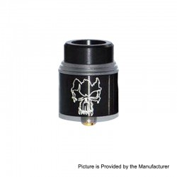 Redemption Style RDA Rebuildable Dripping Atomizer w/ BF Pin - Black, Stainless Steel, 24mm Diameter