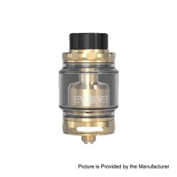 Authentic Vandy Vape Revolver RTA Rebuildable Tank Atomizer - Gold, Stainless Steel, 5ml, 24.4mm Diameter