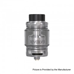 Authentic Vandy Vape Revolver RTA Rebuildable Tank Atomizer - Silver, Stainless Steel, 5ml, 24.4mm Diameter