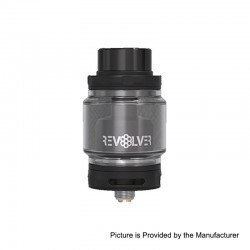 Authentic Vandy Vape Revolver RTA Rebuildable Tank Atomizer - Black, Stainless Steel, 5ml, 24.4mm Diameter