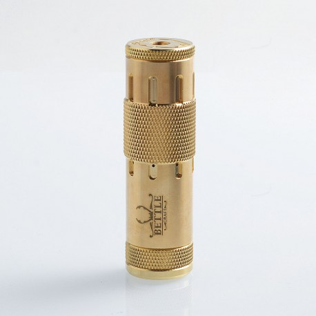 Bettle V3 Style Hybrid Mechanical Mod - Brass, Brass, 1 x 18650