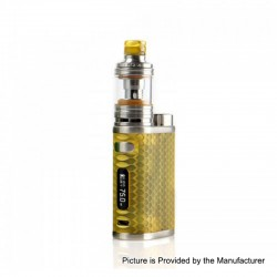 Authentic Eleaf iStick Pico Resin 75W TC VW Variable Wattage Box Mod + Melo 4 Tank Kit - Amber, 1~75W, 1 x 18650, 2ml