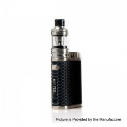 Authentic Eleaf iStick Pico Resin 75W TC VW Variable Wattage Box Mod + Melo 4 Tank Kit - Black, 1~75W, 1 x 18650, 2ml