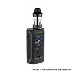 Authentic Innokin Proton 235W TC VW Variable Wattage Box Mod + Scion II Tank Kit - Gun Metal, 6~235W, 2 x 18650, 3.5ml