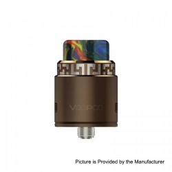 Authentic VOOPOO Rune RDA Rebuildable Dripping Atomzier w/ BF Pin - Brown, Stainless Steel, 24.6mm Diameter