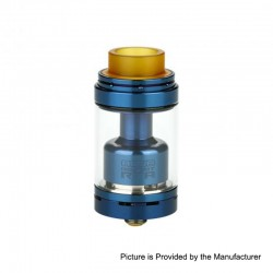 Authentic Footoon Aqua Reboot RTA Rebuildable Tank Atomizer - Blue, Stainless Steel, 4.3ml, 24mm Diameter