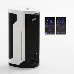 Authentic Wismec Reuleaux RX GEN3 Dual 230W TC VW Variable Wattage Box Mod - Gradient White, 1~230W, 2 x 18650