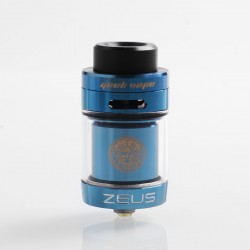 Authentic GeekVape Zeus Dual RTA Rebuildable Tank Atomizer Standard Edition - Blue, Stainless Steel, 4ml, 26mm Diameter