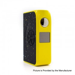 Authentic Asmodus Minikin Boost 155W TC VW Variable Wattage Box Mod - Yellow, 5~155W, 2 x 18650