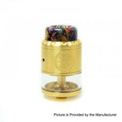 Authentic Asmodus Nefarius TF / BF RDTA Rebuildable Dripping Tank Atomizer w/ BF Pin - Gold, Stainless Steel, 4ml, 25mm Dia.