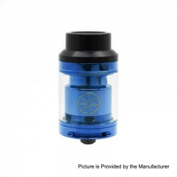 Authentic Asmodus Voluna RTA Rebuildable Tank Atomizer - Blue, Stainless Steel, 2.5ml, 25mm Diameter