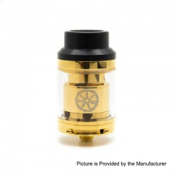 Authentic Asmodus Voluna RTA Rebuildable Tank Atomizer - Gold, Stainless Steel, 2.5ml, 25mm Diameter