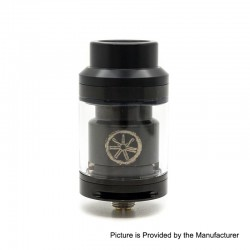 Authentic Asmodus Voluna RTA Rebuildable Tank Atomizer - Black, Stainless Steel, 2.5ml, 25mm Diameter