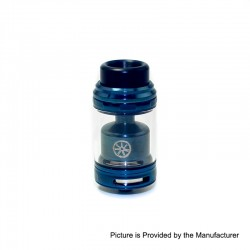 Authentic Asmodus Zesthia RTA Rebuildable Tank Atomizer - Blue, Stainless Steel, 4.5ml, 24mm Diameter